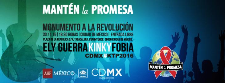 Ely Guerra, Kinky y Fobia contra el VIH/SIDA con concierto en el Monumento a La revolución.