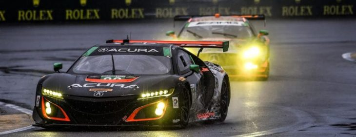 El Acura NSX GT3 termina entre los cinco primeros en el debut de Daytona.