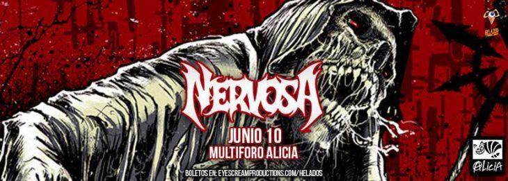 Nervosa se presentará en el Multiforo Alicia de la CDMX.