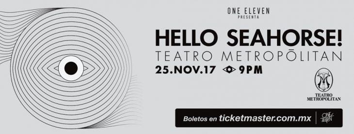 Hello Seahorse se presentará en Teatro Metropólitan.